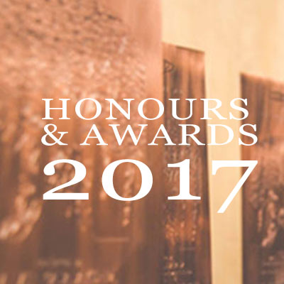 HONOURS & AWARDS 2017