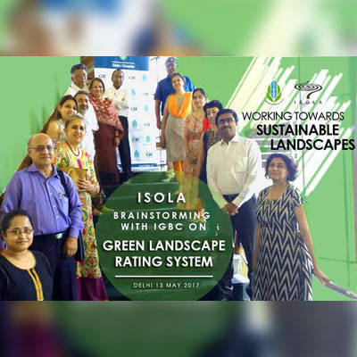 ISOLA Workshop with IGBC on Green Landscape Ratings At IHC, New Delhi