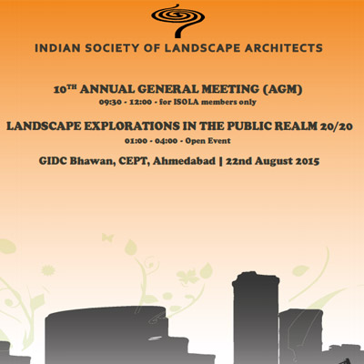 LANDSCAPE EXPLORATIONS IN THE PUBLIC REALM, an AGM EVENT, AUG 2015
