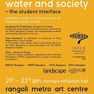 Public Exhibition: <br>Water and Society - Jan 2016