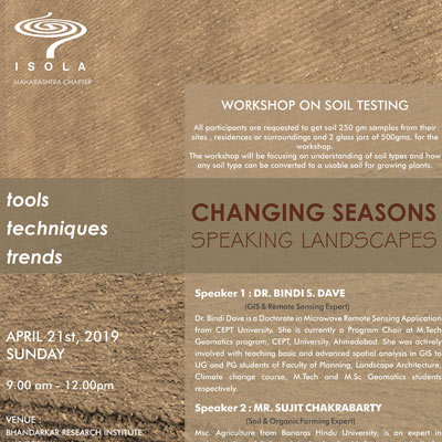 Changing Seasons Speaking Landscapes - Workshop Soil Testing